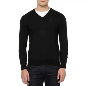Versace Collection Pullover V-Neck Wool Sweater